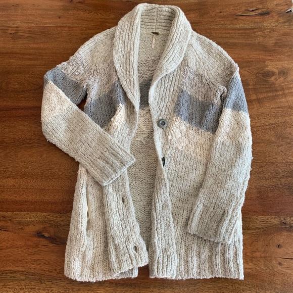 Free People Sweaters - Free People Chunky Knit Sweater Cardigan Size S